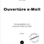 Staehle/Schmidt >Ouvertüre e-Moll für Orchester<