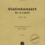 Rodolphe Kreutzer >Violinkonzert Nr. 6 e-moll KWV 28<