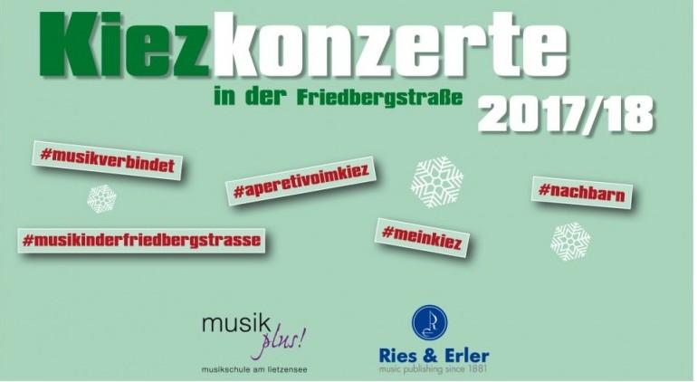Kiezkonzert in der Friedbergstraße: 2. Dezember 2017