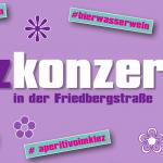 Kiezkonzert in der Friedbergstraße in Berlin: 20. April 2018