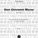 Mozart, W. A. / Anonymus >Don Giovanni Messe<