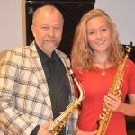 Ensemble Zeitlos beim Kiezkonzert in der Friedbergstraße: Detlef Bensmann und Lilly Paddags