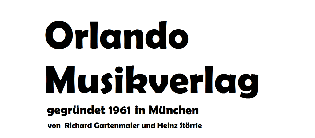 Orlando Musikverlag bei Ries & Erler