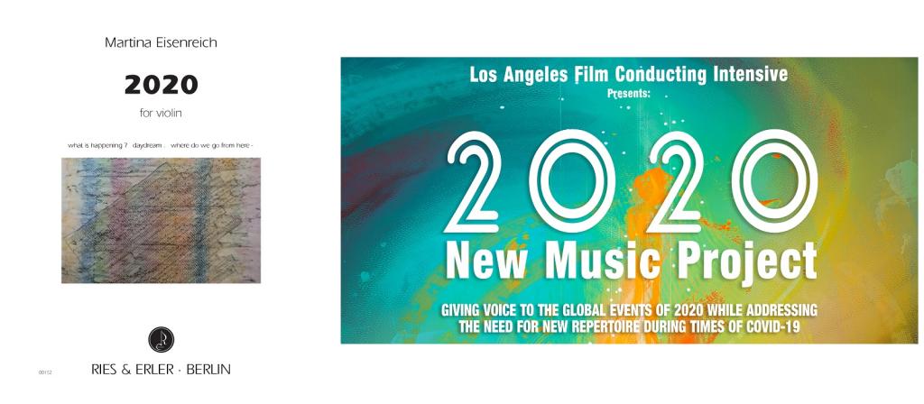 Uraufführung: 2020 for violin von Martina Eisenreich am 01.08.2020 in Los Angeles