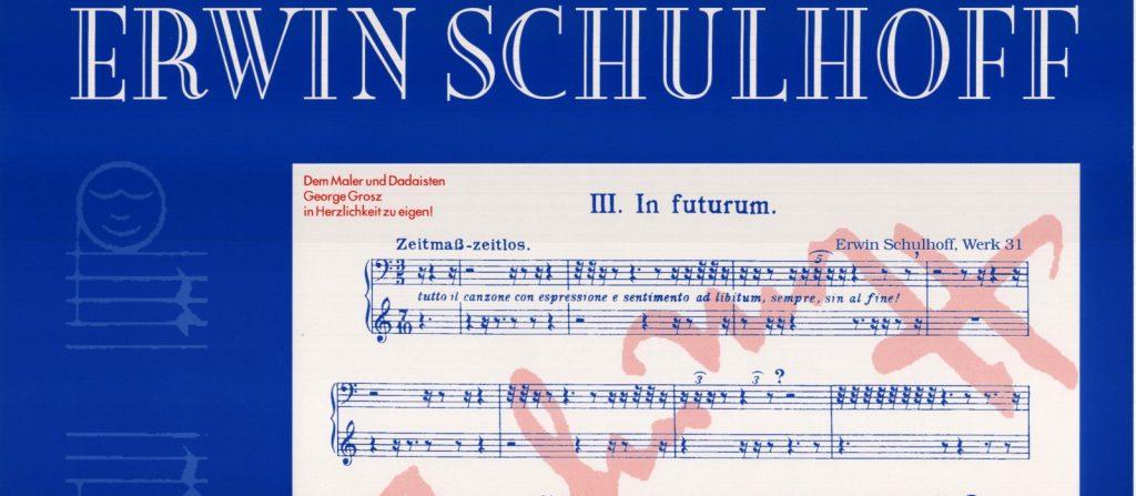 Erwin Schulhoff hat es geahnt – 33 Jahre vor John Cage