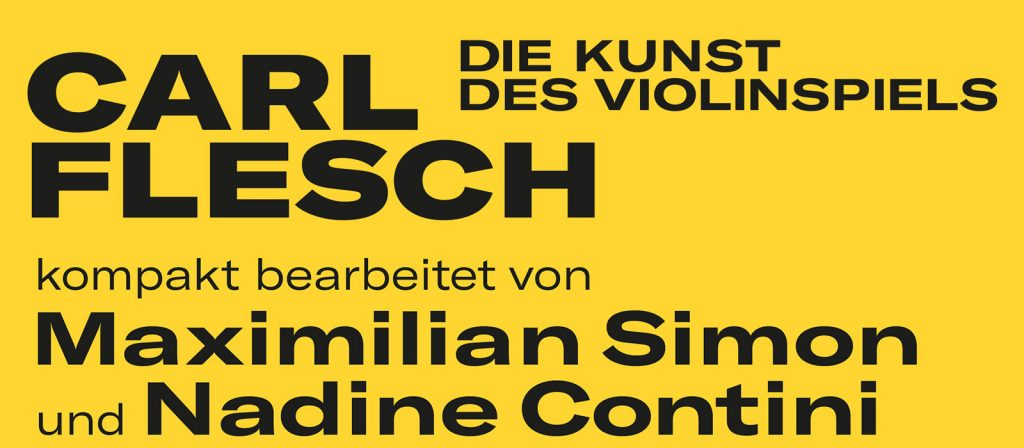 """NEUERSCHEINUNG """"Die Kunst des Violinspiels"""""""